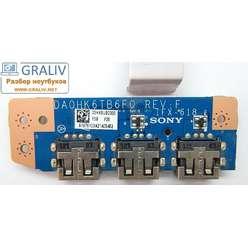 Плата расширения USB ноутбука Sony SVE151  DA0HK6TB6F0