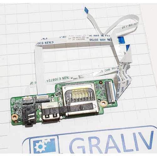 Доп. плата USB, Audio, сardreader, ноутбука DEXP O140 O141 O143 XD95-C, 72R-NH5CU1-1430